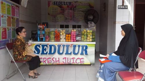 Outlet Sedulur Jus, higienis dan mengacu pada standar Food Safety